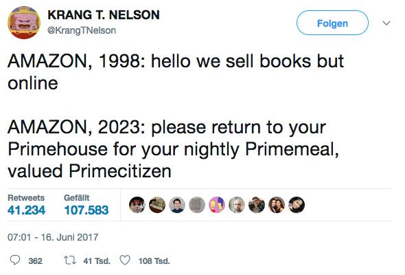 Jasmin's favorit Amazon / Whole Foods tweet